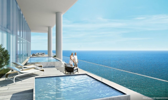 - Luxurious Turnberry Ocean Club residences in Sunny Isles Beach with stunning views of the Atlantic Bay