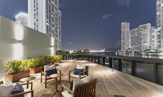 - Luxury residential complex branded by Aston Martin in Miami